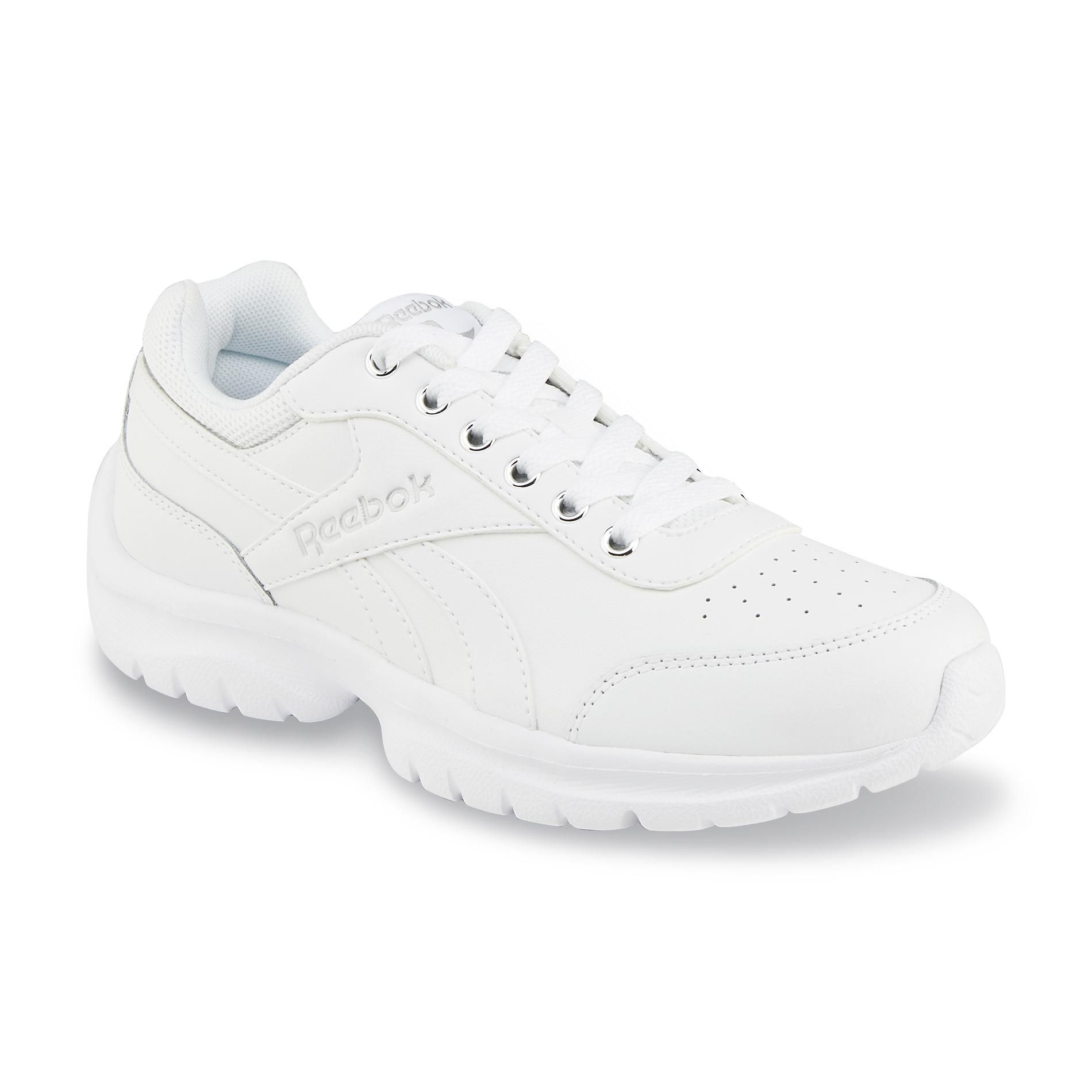 solid white tennis shoes