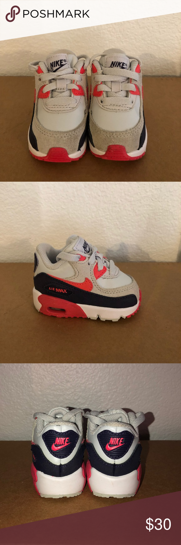 new style c0b0b f4f32 Nike Air Max 90 LTR (TD) Leather Pure platinum  ember glow  purple dynasty     perfect condition. No box Nike Shoes Sneakers