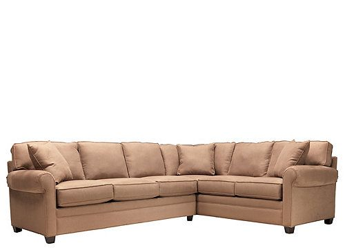 Eastbrook 2 Pc Microfiber Sectional Sofa W Queen Sleeper Sleeper