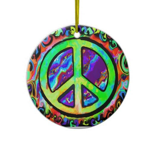 Psychedelic Peace Sign Christmas Ornaments Ornament Ideas