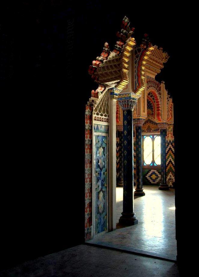 Castello di Sammez zano in Reggello, Tuscany, Italy...A Morocco style residence with colorful decoration.
