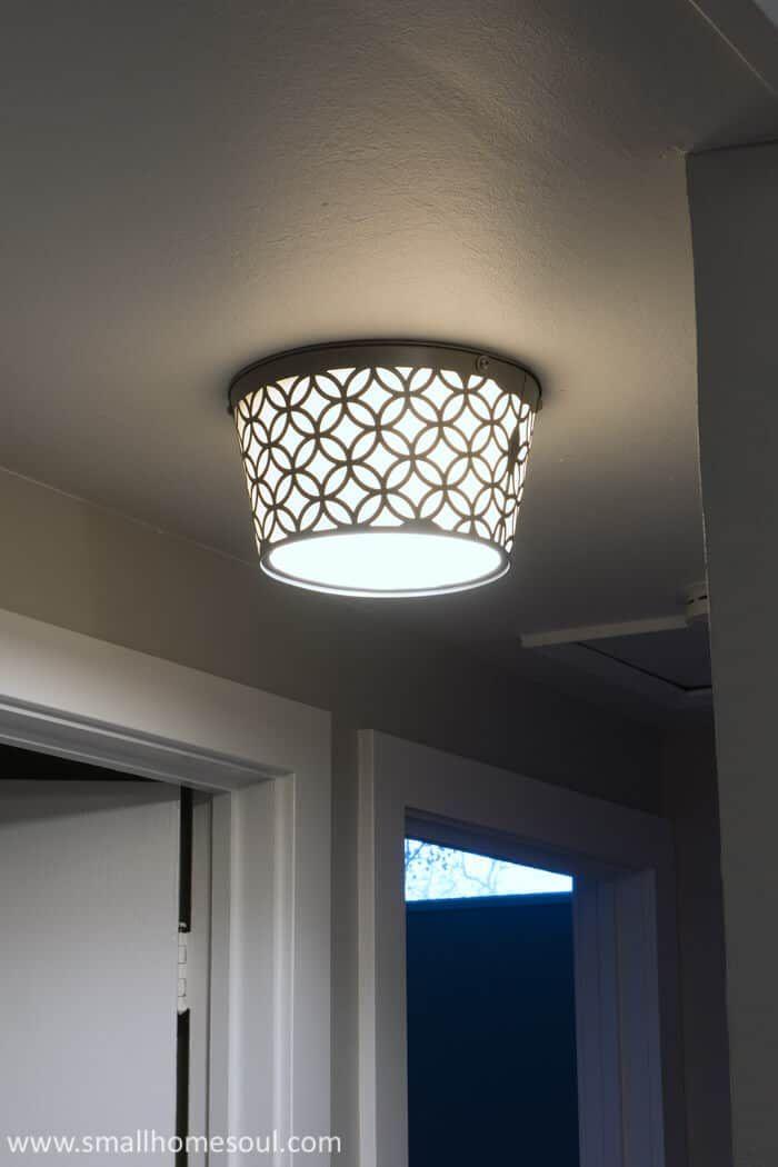 Boob Light Makeover - DIY Ceiling Light Update - Girl, Just DIY! -   taklampa diy Lamp