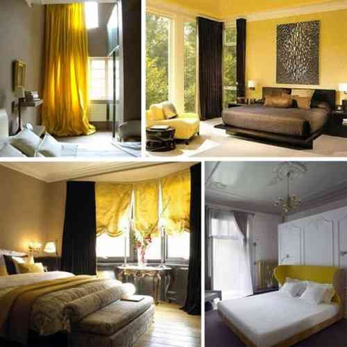 Mustard Yellow Bedroom With Images Yellow Bedroom Yellow