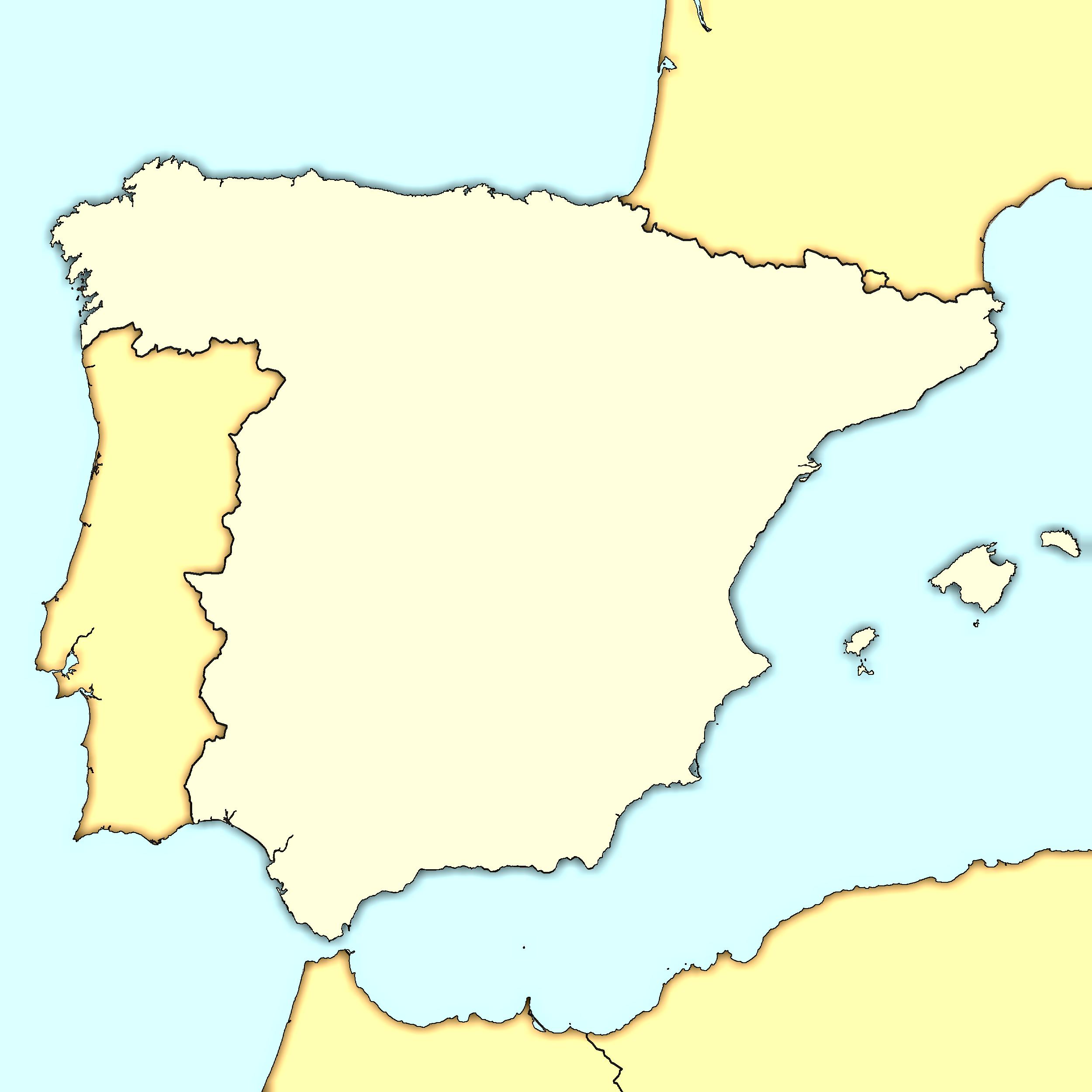 Map Of Spain Blank.Blank Map Of Spain International Culture Spain Map Of Spain