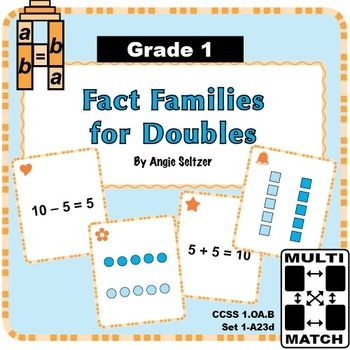 This FREE card set provides practice with fact families for doubles
