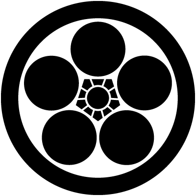 丸に梅鉢 家紋 梅鉢 花の慶次