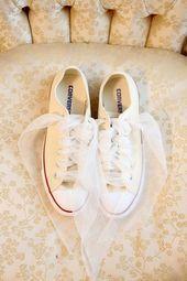 Bridal flats  Converse sneakers  The Wedding Scoop Spotlight Bridal Shoes  P