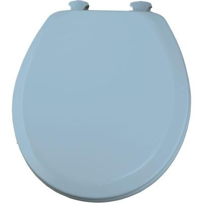 Bemis Lift Off Round Closed Front Toilet Seat In Sky Blue 520ec 034 The Home Depot Bemis Toilet Seat Home Depot