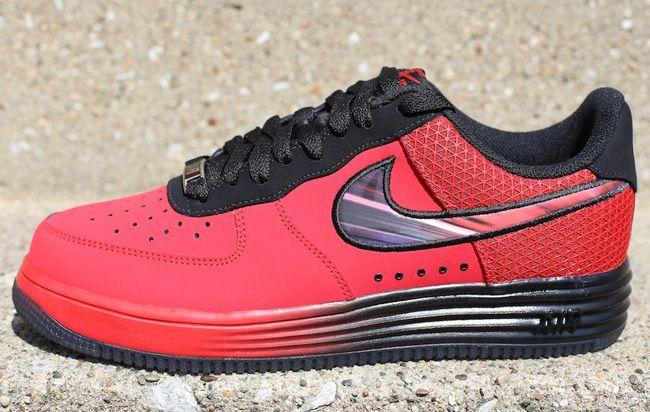 hot sale online b6cf7 b55f1 Nike Lunar Force 1 LTHR Red   Black