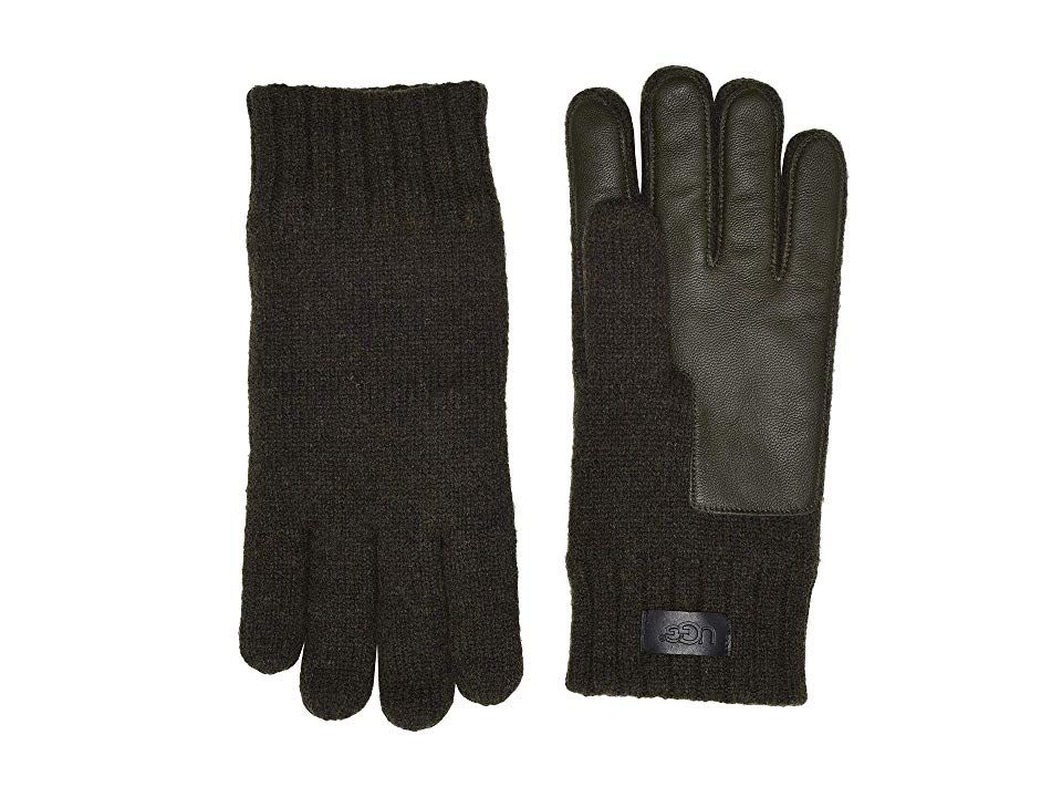247eea331d9 UGG Knit Conductive Leather Gloves (Spruce) Extreme Cold Weather ...