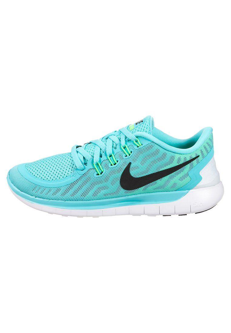 Nike Performance FREE 5.0 - Chaussures de course neutres - light  aqua/black/light