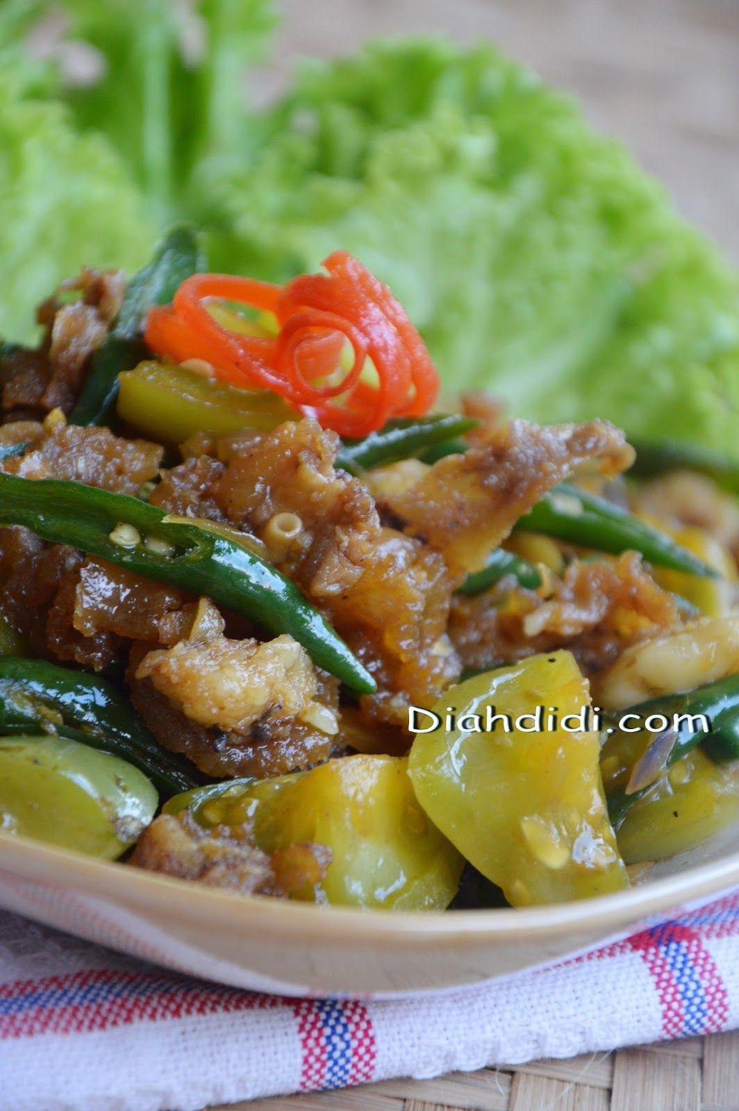 Resep Praktis Dan Enak Oseng Kikil Cabai Hijau Dengan Gambar Resep Masakan Resep Makan Malam