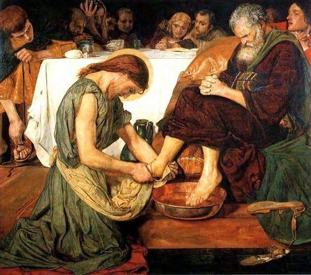 Kết quả hình ảnh cho jesus washing the feet of the apostles