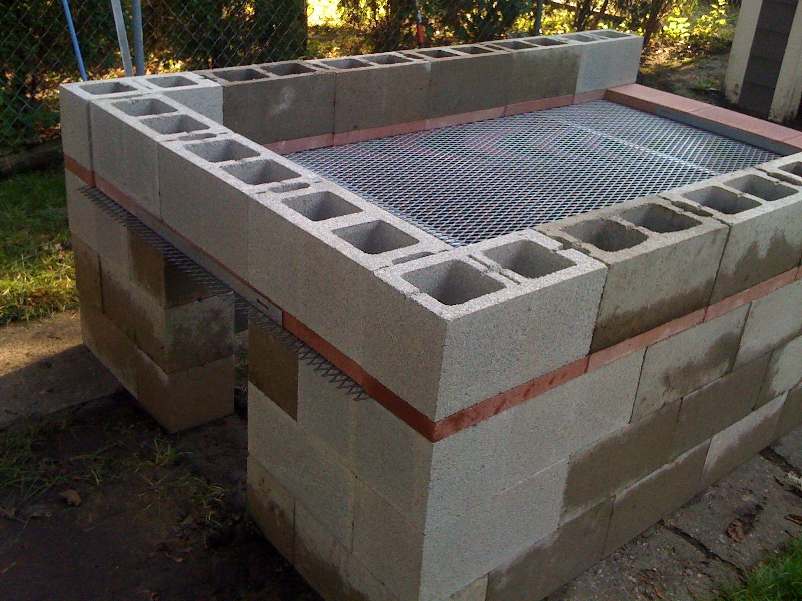 Various cinder block grills.