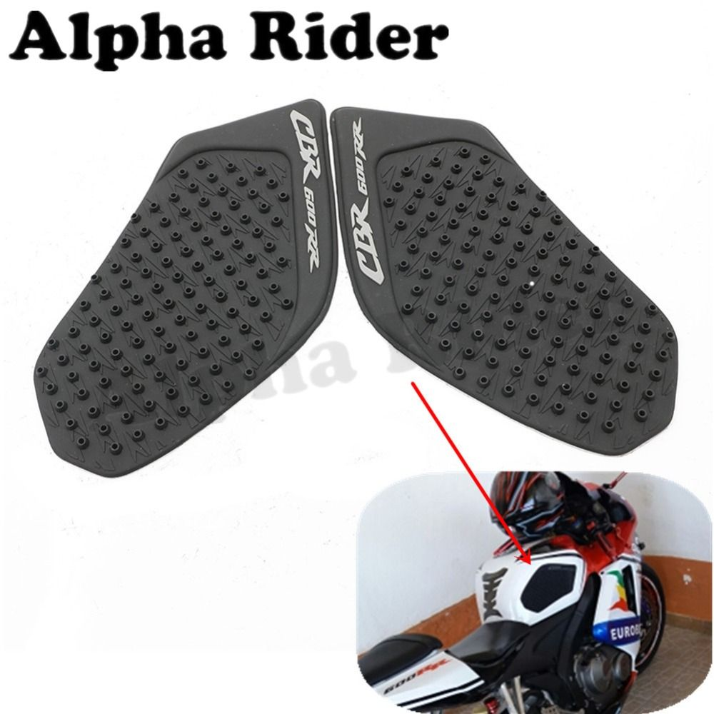 Motorcycle Tank Sticker Rubber Peel Fuel Tank Pad Side Protector For