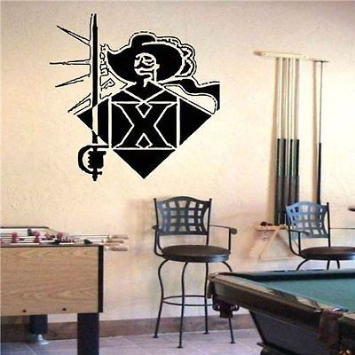 ncaa xavier musketeers logo emblem wall art sticker decal (1086
