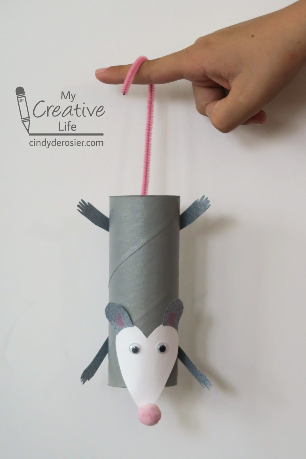 Cardboard Tube Opossum Toilet Paper Crafts Paper Roll Crafts