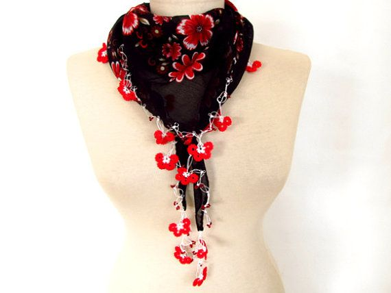 Black scarf  Turkish Scarf  scarf for women  Black by asuhan, $24.00