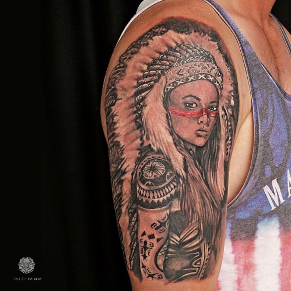 Sleeve Tattoo Indian American Tattoo Maharadjah Tattoo Bali