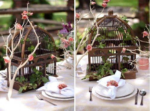 Best 25 bird cage centerpiece ideas on pinterest - Cage oiseau decoration ...