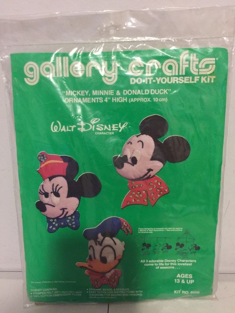 Vintage gallery crafts do it yourself kit mickey minnie mouse donald vintage gallery crafts do it yourself kit mickey minnie mouse donald duck solutioingenieria Gallery