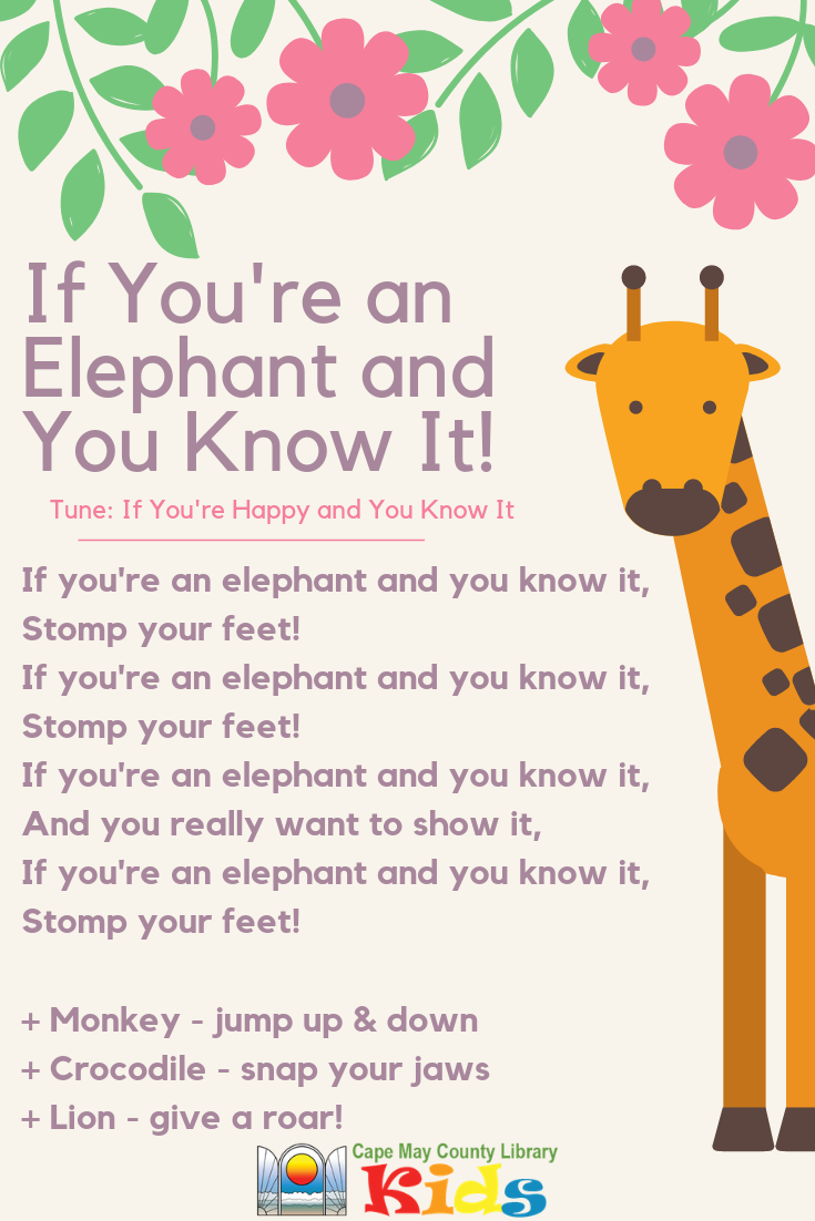 If You're an Elephant and You Know It Kindergarten songs