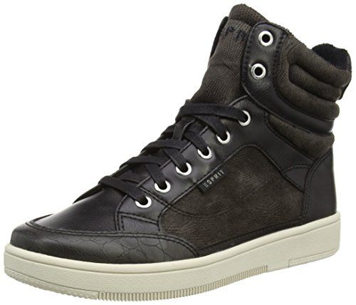Sita Lace Up, Sneakers Basses Femme, Noir (Black), 38 EUEsprit