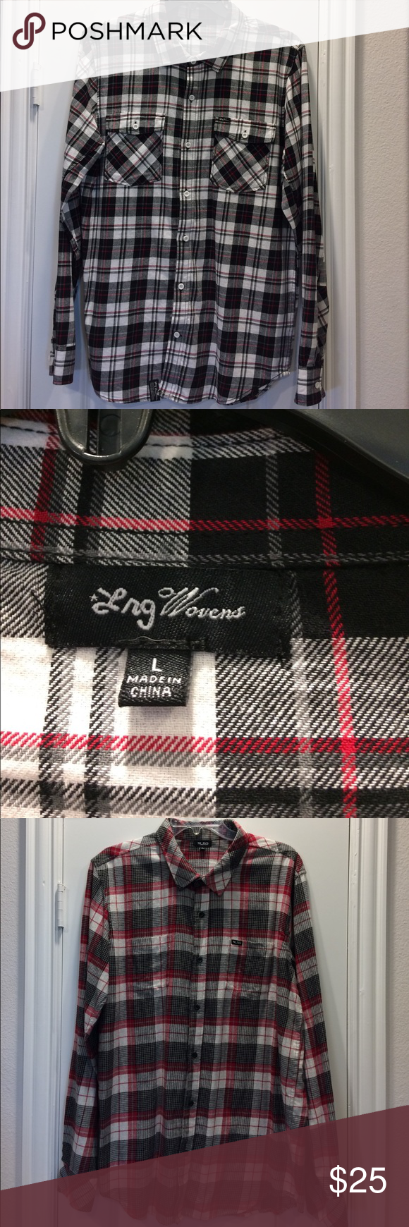 Flannel jacket with fur inside   Menus LRG Brand Skate Flannels I have two size Large LRG Brand