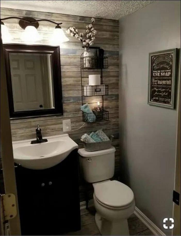 37 Half Bathroom Ideas Home Decoration In 2020 Bathroom Remodel Small Budget Small Bathroom Remodel Cottage Bathroom Design Ideas