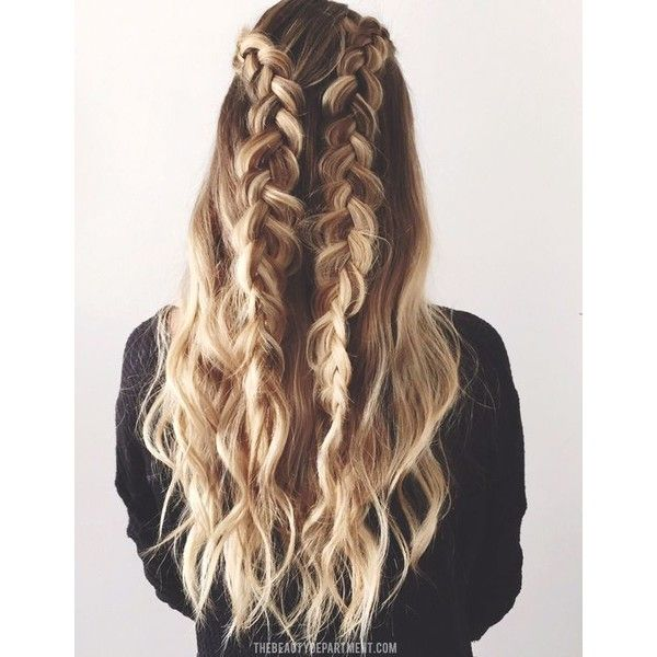 Easy Braided Hairstyles Unique 20 Gorgeous Braided Hairstyles For Long Hair Via Polyvore Featuring
