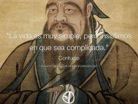 Confucio: La vida es muy simple