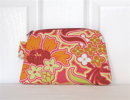 Amy Butler Soul Blossoms Disco Flowers Zippered Pouch