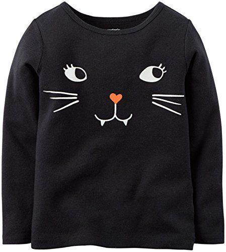 Funny Kids Childrens Sweatshirt Jumper Halloween Cat Face Glow In The Dark
