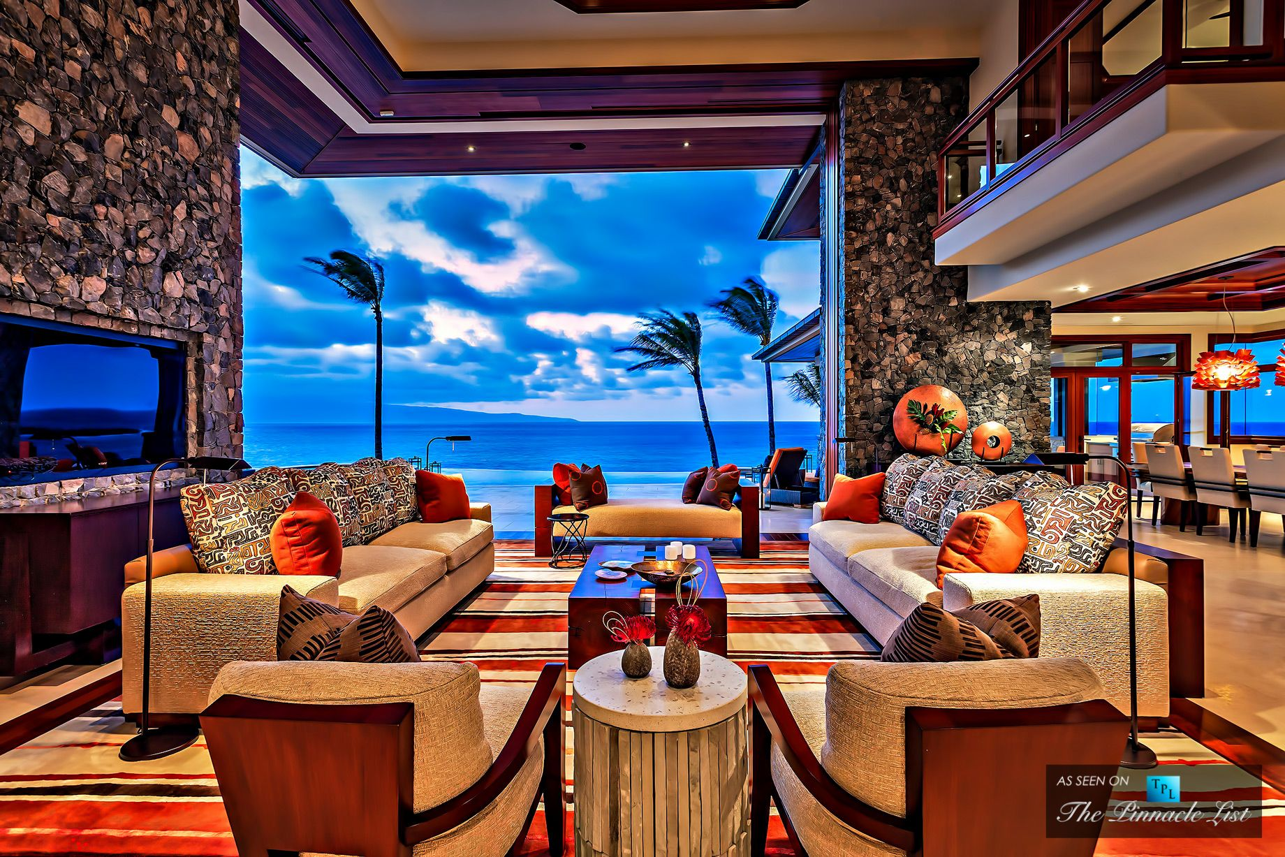 Kukio resort home tropical living room hawaii by fine design - Maui Beach House Overlooking The White Pristine Beaches Of Oneloa Bay In Maui T His Amazing Luxury Beachfront Home Is Located On Kapal