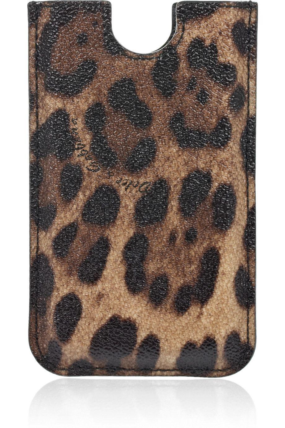 Dolce & Gabbana Leopard-print faux leather iPhone 4 case NET-A-PORTER.COM