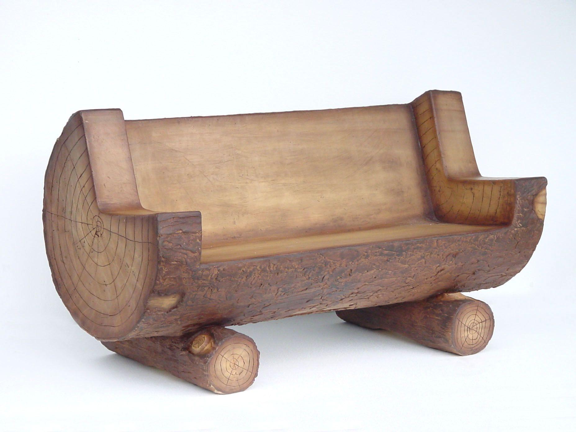 Bench made from a log LOG BENCH LIFELIKE DIY