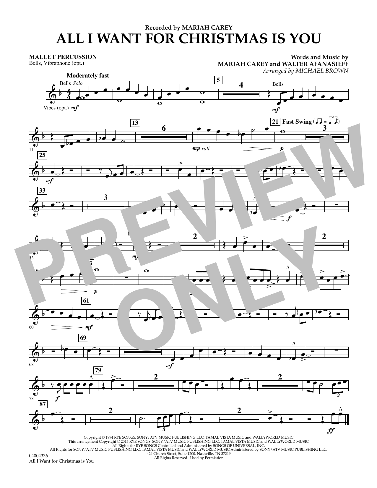 Mariah Carey All I Want For Christmas Is You Arr Michael Brown Mallet Percussion Sheet Music Notes Chords Score Download Printable Pdf In 2020 Sheet Music Notes Saxophone Sheet Music