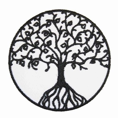 Tree of life patch wit - Hippie - Extreme Largeness