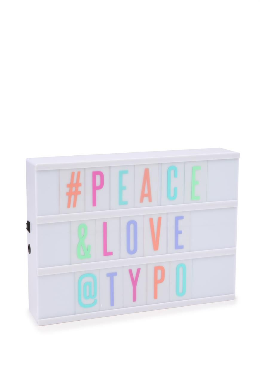 A Fun Typographic Light Box With Changeable Letters