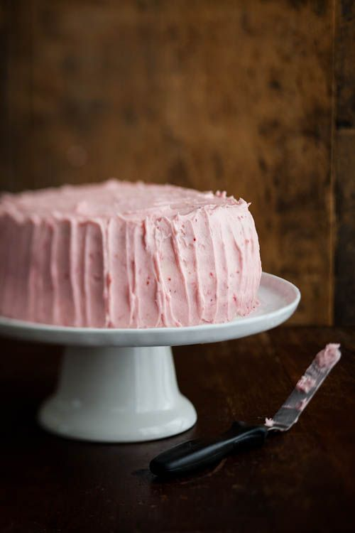 lemon raspberry birthday cake. Lemon cake with simple raspberry filling and raspberry icing.
