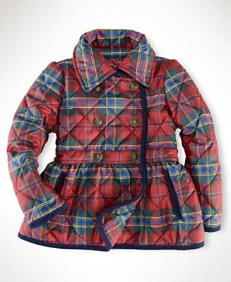5d9ff6549 Ralph Lauren Kids Jacket, Little Girls Tartan Quilted Jacket - red plaid -  $100.00