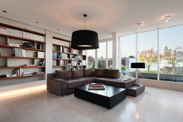Elegant Fußboden Feinsteinzeug Fliesen Wohnzimmer Wandbibliothek