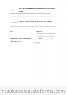 Free AFFIDAVIT OF OWnership Printable Real Estate Document