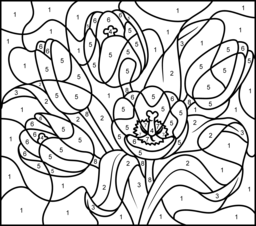 Coloring Pages Color By Number Hard