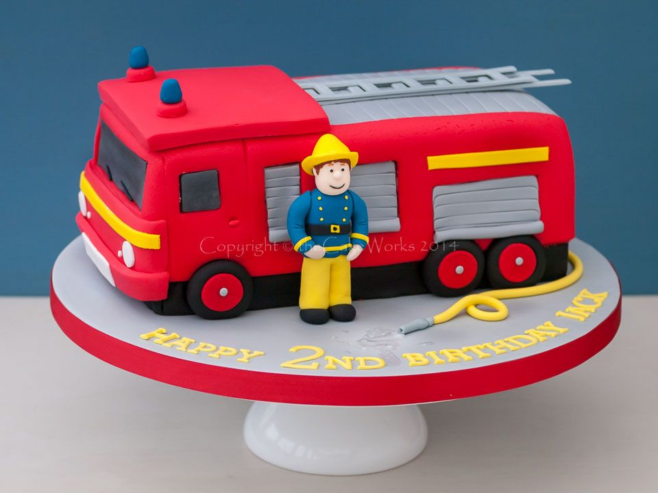 How To Make A D Fire Truck Cake