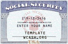 Template Ssn Social Security Card Template Photoshop Birth Certificate Template Social Security Card Card Templates Free
