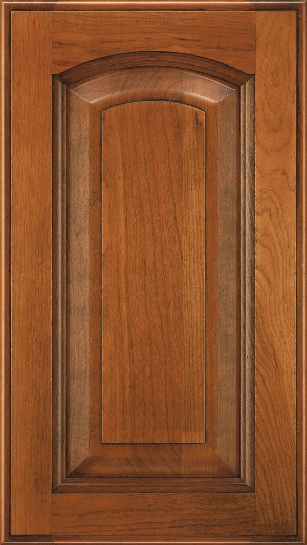 The Kingston raised panel cabinet door style is an arch cabinet door