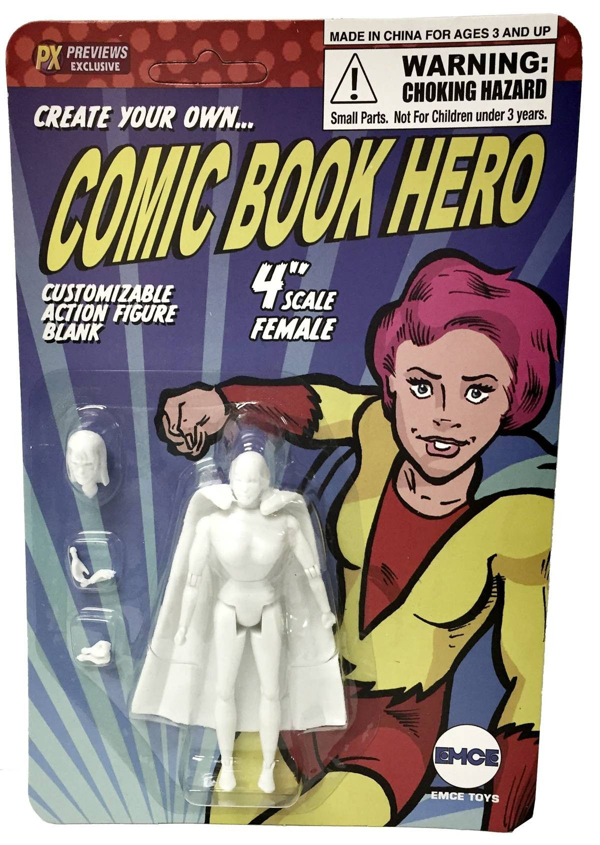 Create Your Own Comic Hero Std Female 4in Af