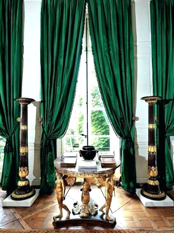 Dark Green Curtains Emerald Curtains Emerald Green
