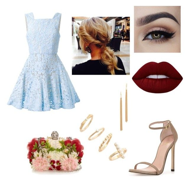 """Sem título #250"" by anabeatriz100 on Polyvore featuring moda, Alex Perry, Stuart Weitzman, Alexander McQueen, Lime Crime, Jules Smith e BP."